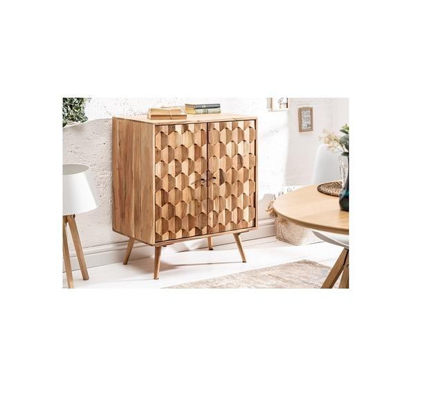 Komoda szafka Mystic drewno akacjowe 76cm