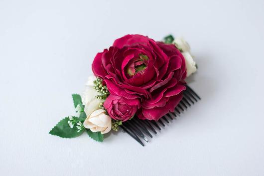 f60f53ff00dd24 Grzebień z kwiatami - do włosów - spinki i klamry - Pakamera.pl