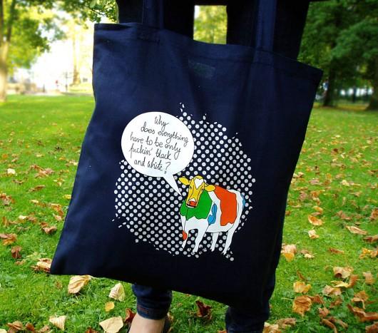 5ceb46ba3c929 torby na zakupy - damskie-Eko torba na ramię - na zakupy - granatowa