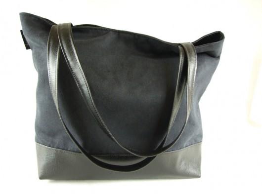 32b6a78875552 Pojemna torba XL czarna - torby na ramię - damskie - Pakamera.pl