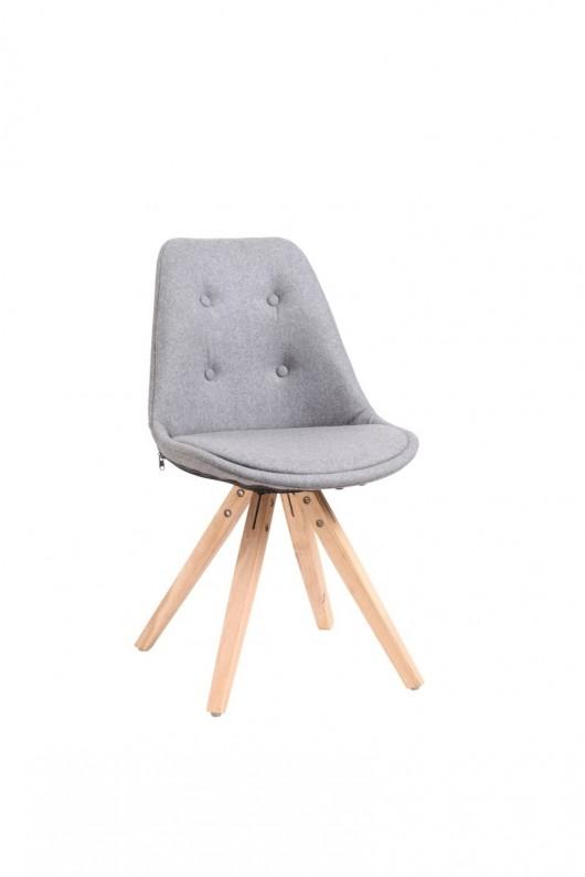 Wspaniały Krzesło Nord pikowane szare - meble - krzesła - Pakamera.pl SO74