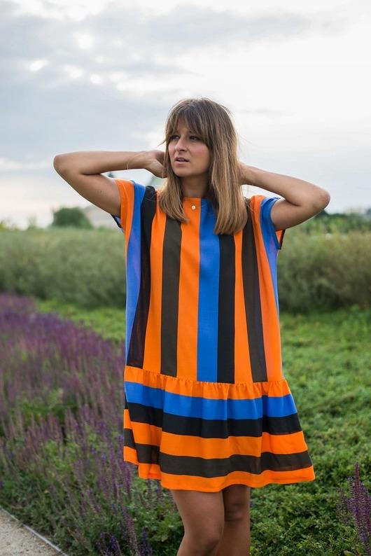 Limitowana sukienka oversize multikolor