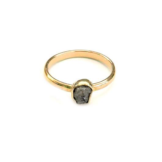 80f44e32dda2eb surowy diament w złocie - pierścionki - różne - Pakamera.pl