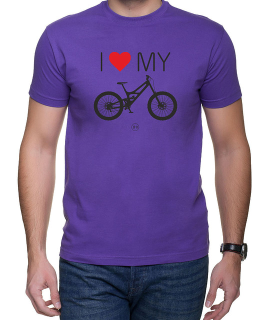 moda - t-shirty-Koszulka T-SHIRT Love My Down Hill