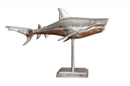Dekoracja stojąca Fish ryba srebrna aluminium 70 - 1881406