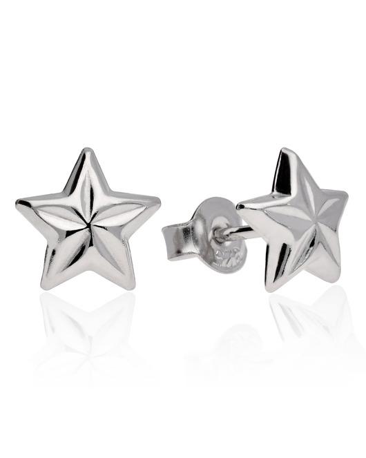 Gwiazdki kolczyki srebrne gwiazdy w Kolczyki Biżuteria