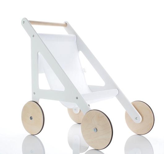 Designerski drewniany wózek dla lalek - 1891672