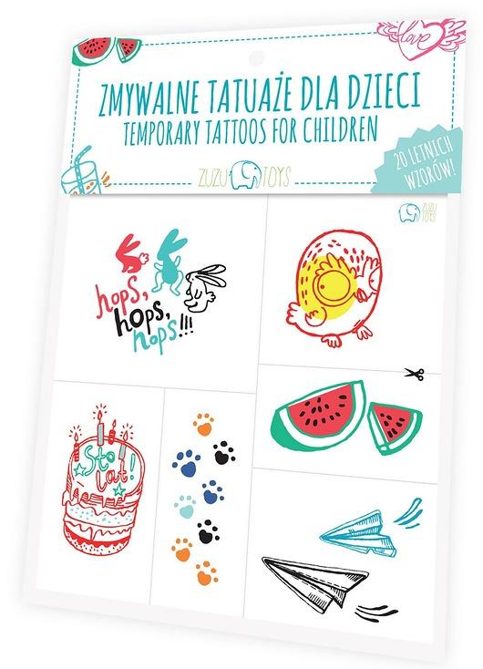 Zmywalne Tatuaże Dla Dzieci Letnie Wzory Pakamerapl