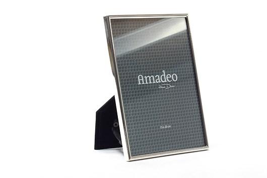 Ramka Amadeo na zdjęcie 15 x 20 cm srebrna - 1977054