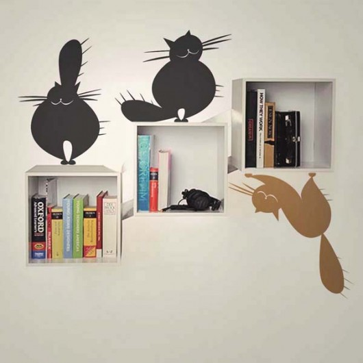 Zestaw Naklejek Na ścianę 4 Koty Pokój Dziecka Naklejki ścienne