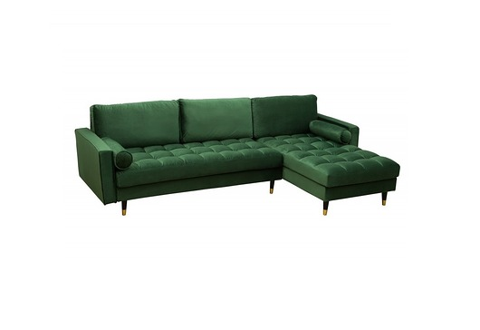 Sofa, kanapa, narożnik Velvet Green, 260 cm