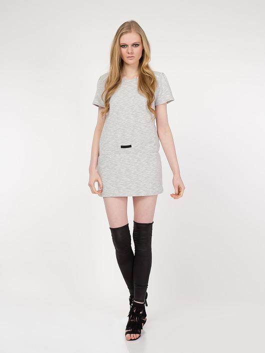 Sukienka szara YY200083_RAL7030