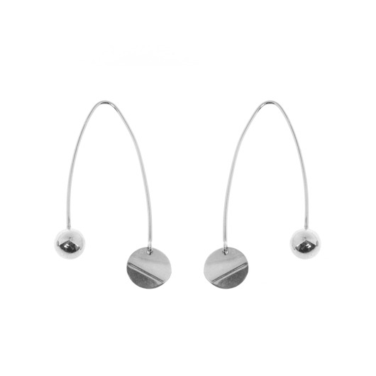 kolczyki - srebrne-MOBILE EARRINGS 2  / silver