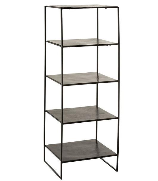 Regał dekoracyjny 5 Shelves Black Green, 151 cm