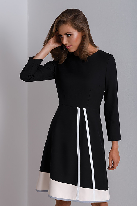 Czarna czarna sukienka do pracy Catrise