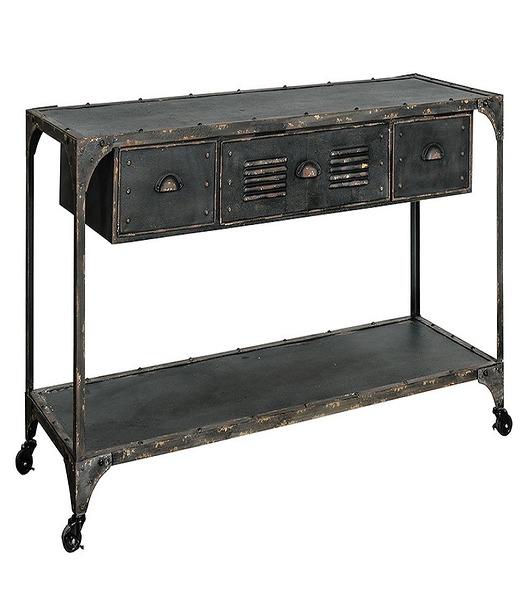 Komoda z szufladami, konsola Loft Black, 141 cm
