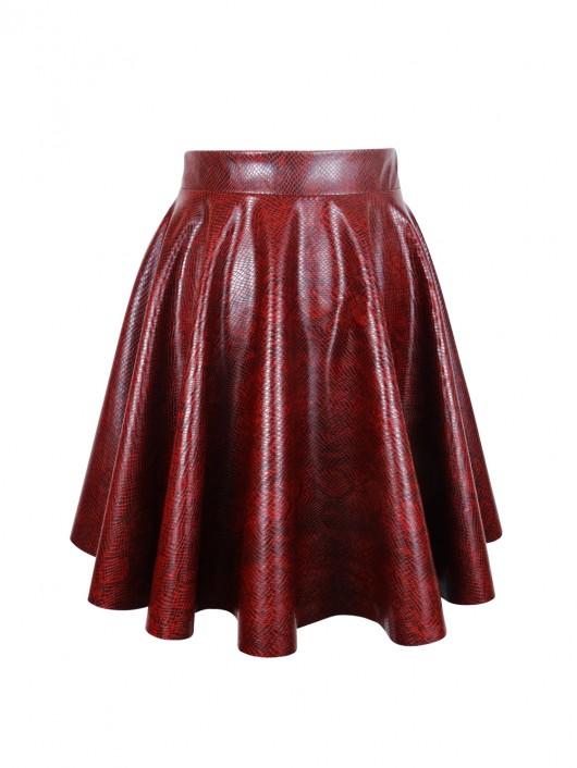 Burgundy Snake Skirt