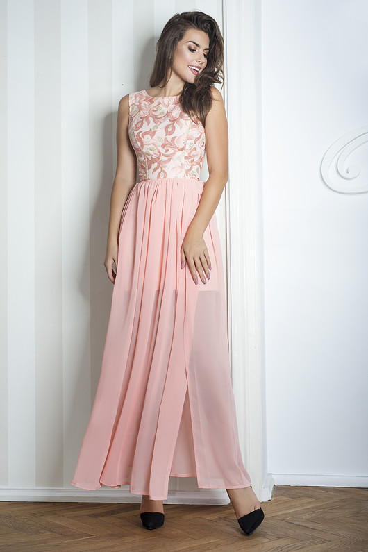 Sukienka Sharon II maxi różowa