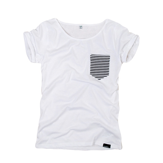 bluzki - t-shirty - damskie-stripes - organic t-shirt