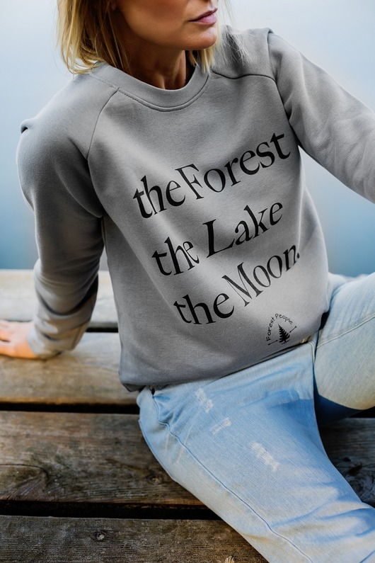 bluzy-Bluza unisex THE FOREST THE LAKE THE MOON