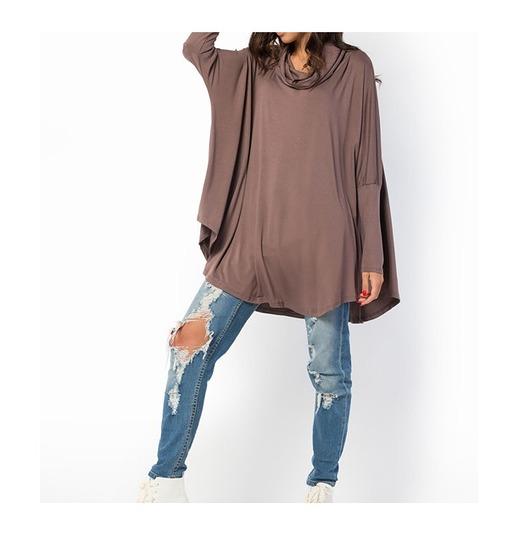 Bluzka MELANGE tunika oversize capuccino