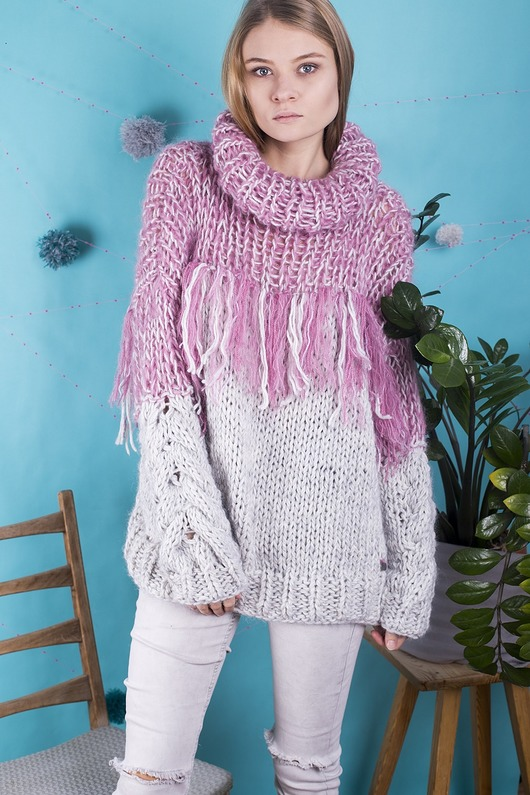 swetry-Sweter Pink