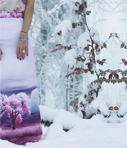 Spódnica Różowe drzewa