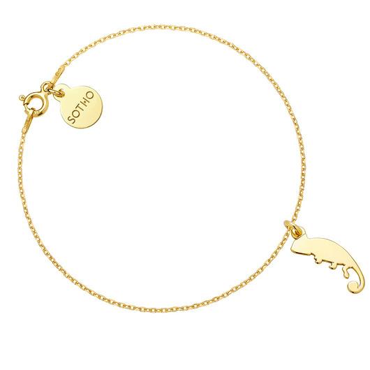 tani SOTHO Złota bransoletka z kameleonem - bransoletki - złote Biżuteria Damska bransoletki LE LE-9