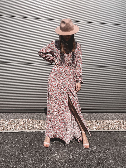 Sukienka maxi SELENA LONG SUMMER PINK