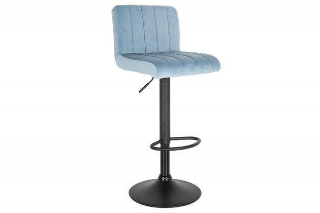 Krzesło Barowe Porto Błękitne Aksamit 109cm Pakamerapl