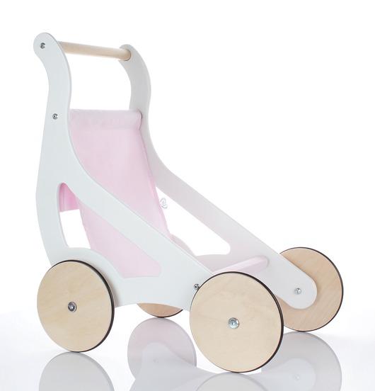 Designerski drewniany wózek dla lalek - 1891680