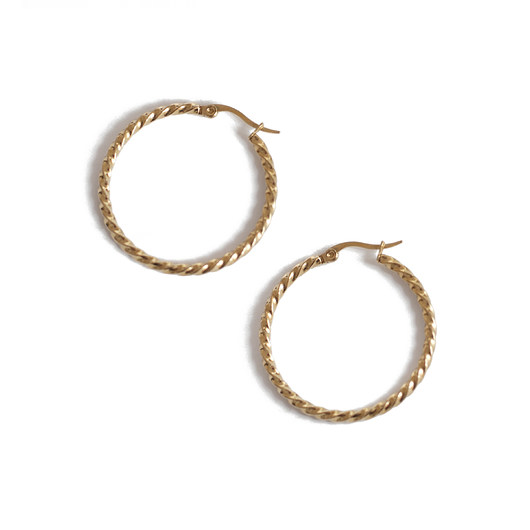 kolczyki - inne-vintage circles  earrings / gold
