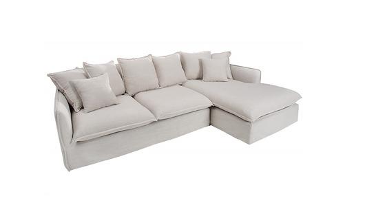 Sofa, narożnik Heaven Natural, len, 255 cm