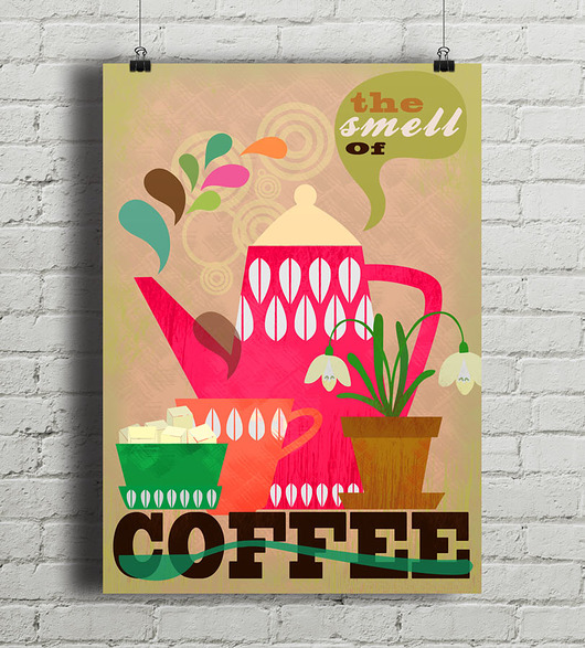 plakaty-The Smell of Coffee - plakat giclee