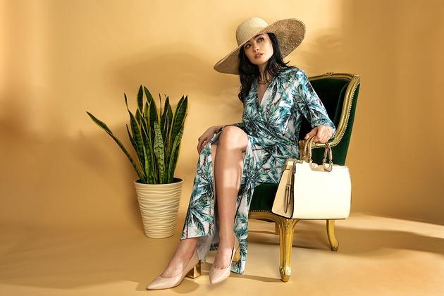 Elegancka sukienka maxi PREMIUM PALMY