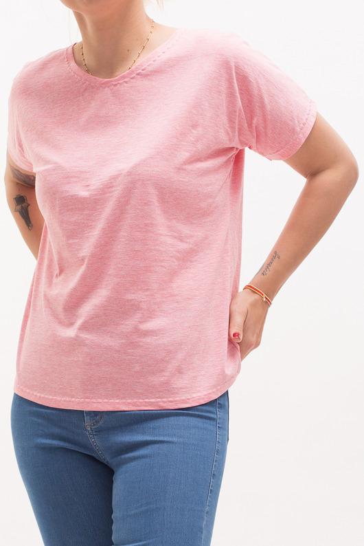 Różowa koszulka z krótkim rękawem