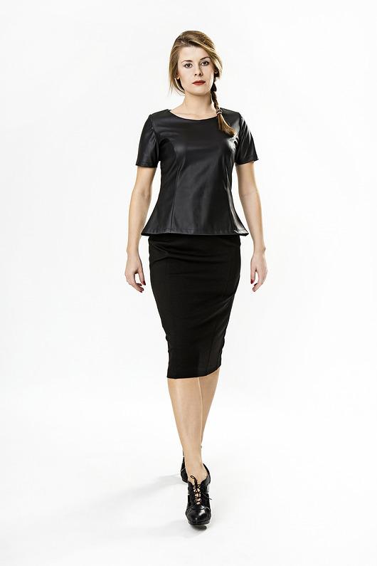 c95c607db3 Spódnica ołówkowa czarna Darksus Business - spódnice - Pakamera.pl