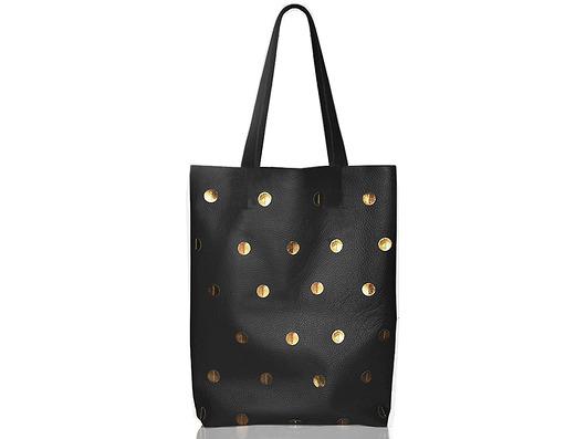 f5e2ecc1ae604 Torba w złote kropki - torby na ramię - damskie - Pakamera.pl