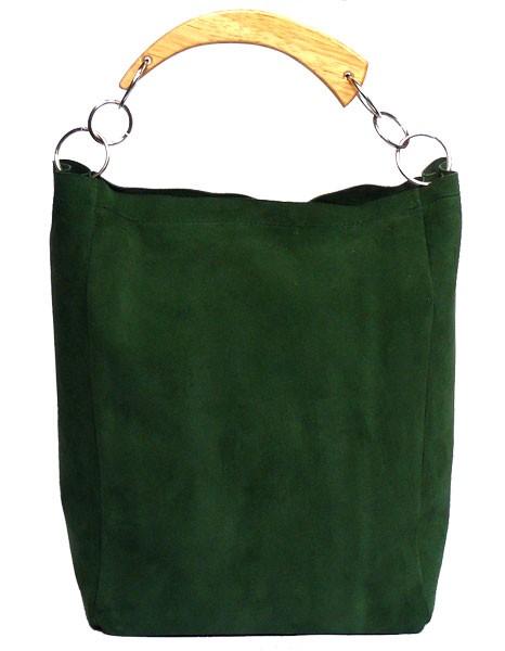 cf4f6e4485f5c Zielona zamszowa - torby na ramię - damskie - Pakamera.pl