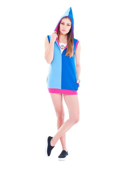 bluzy z kapturem-Space Dwarf Vest (Blue)