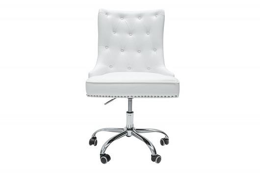 Fotel obrotowy biurowy Victoria biały eko skóra