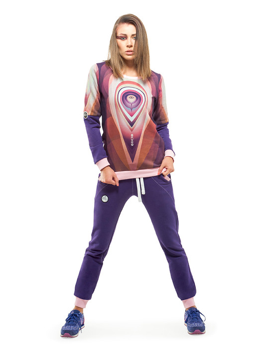 bluzy-Orbit Sweatshirt (Violet)