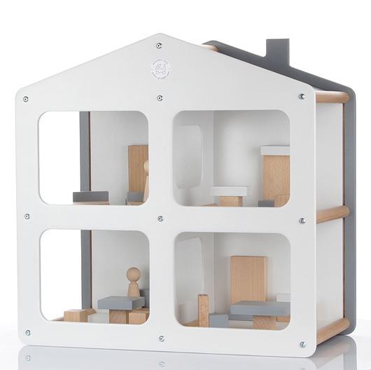Designerski drewniany domek dla lalek NOWOŚĆ! - 1891717