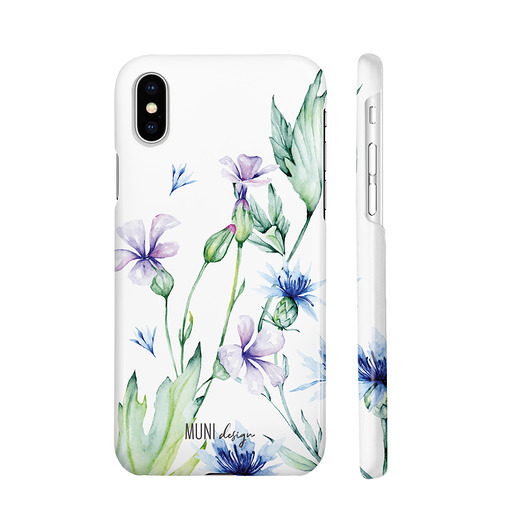 pokrowce i etui - na telefon-Etui na telefon iPhone X/ Xs, Watercolor flowers