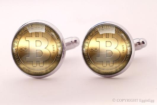 Bitcoin - spinki do mankietów - 0764 - 1942633