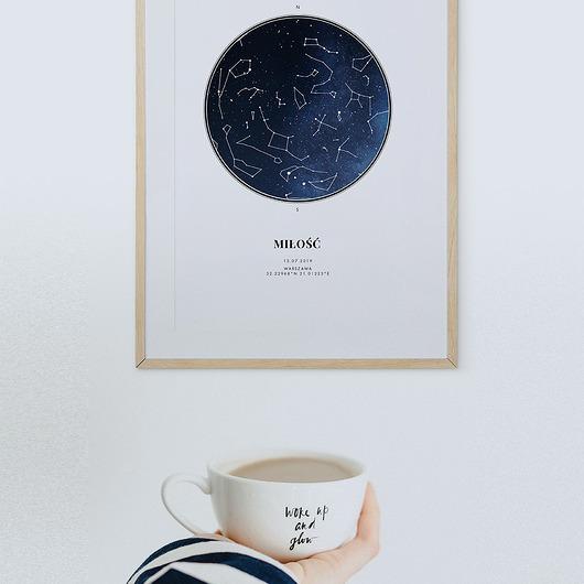 Plakat Twoja Mapa Nieba Gwiazdy Pakamerapl