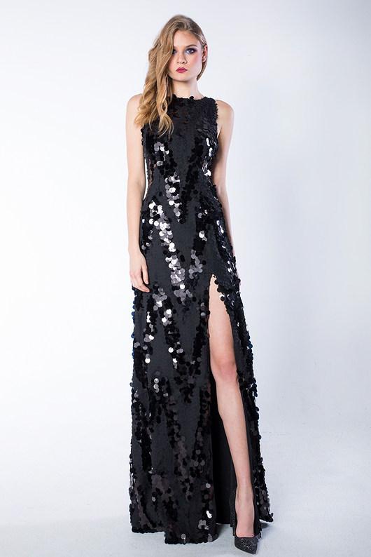 Czarna cekinowa suknia Wonder