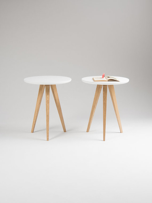 2x stolik nocny, stolik pomocniczy Ø40 - 1913154