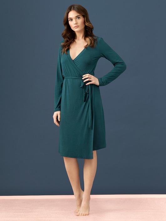 Sukienka z wiązaniem kopertowym LW001