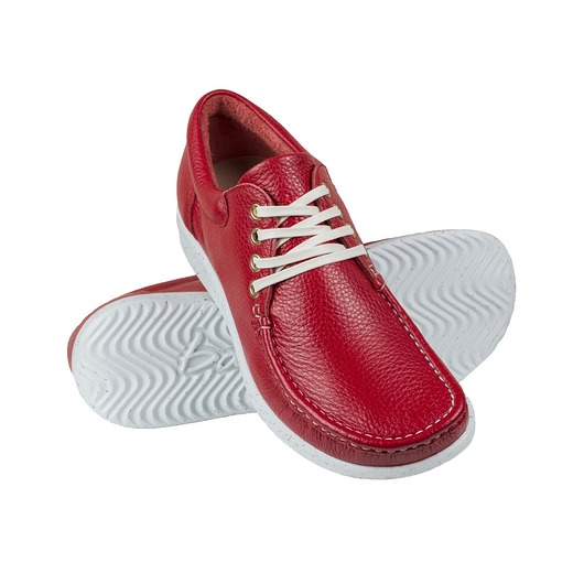 buty - połbuty-Full-Grain Red Moccasin